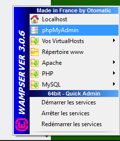 menu WampServer